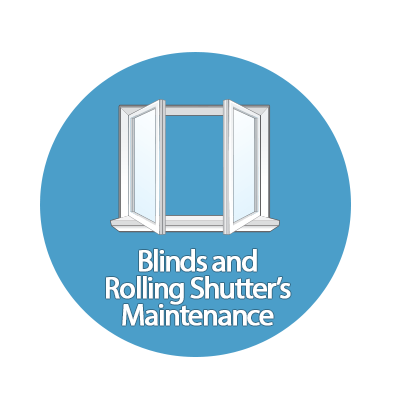 Blinds and Rolling Shutter's maintenance